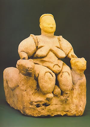 Leopard Goddess found at Catalhoyuk