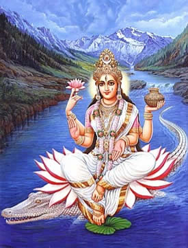 Goddess Ganja from the River Ganges
