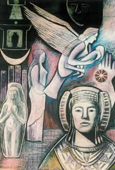 """Tanit - Phoenician Goddess"" - Monica Sjöö"