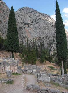 The ruins at Delphi