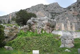 Rock of the Sibyl at Delphi