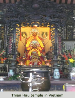 Thien Hau temple in Vietnam