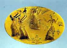Ring from tomb of Isopata at Knossos
