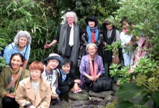 Pilgrimage group at Jeju Island shrine