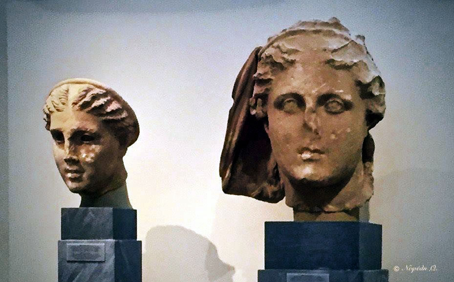 Artemis & Despoina from the group of statues in the temple of Despoina at Lykosoura. ©National Archaeological Museum, Athens.