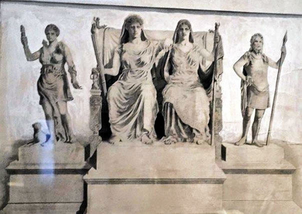Sculptural Group for the group of statues in the temple of Despoina at Lykosoura. ©National Archaeological Museum, Athens