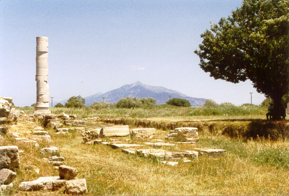 Remains of the Iraion Temple on Samos