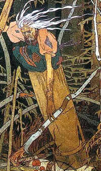 "Detail from ""Baba Yaga"" by Ivan Bilibin - Open Source (from Wikipedia)"