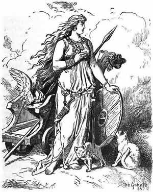 Freya (1901) by Johannes Gehrts