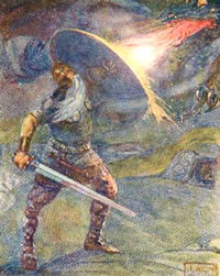 Beowulf and the dragon – J. R. Skelton
