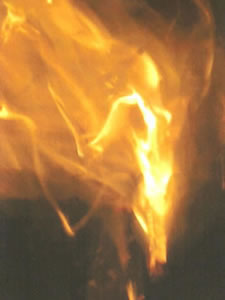 SunFire Goddess photographed on a mobile phone at the 2008 Conference Sacred Fire Ceremony by Niamh Cox Ó