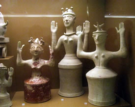 Figurines in the museum