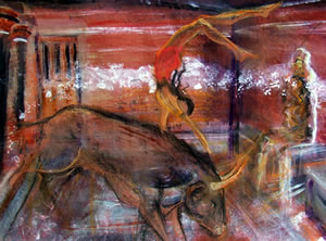 Throne Room - painting by Rachael Clyne