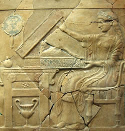 "Pinax of Persephone opening the ""Liknon Mystikon"". Found in the holy shrine of Persephone at Locri in Italy."