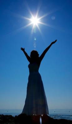 Woman and Sun
