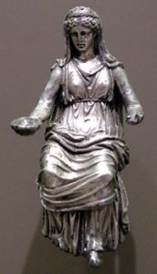 Silver Statuette of Juno, 1st–2nd century -Dutuit Bequest, 1902