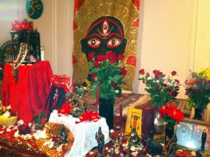 Puja Altar - photo by Crystal Dawn Walker