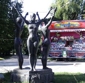 Simferopol Gymnast Sculpture