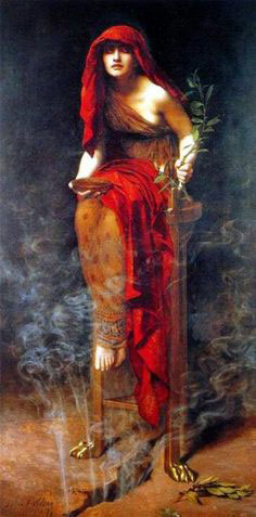 Priestess of Delphi, by John Collier